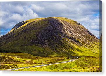 Canvas Print featuring the photograph Smooth-top Mountain by Steven Ainsworth