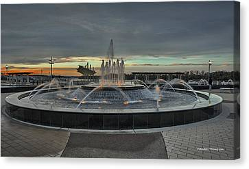 Smothers Park Fountain Canvas Print