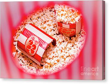 Snack Bar Pop Corn Canvas Print