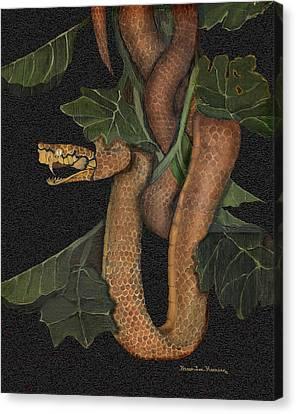 Snake Of No Kind Canvas Print by Karen-Lee