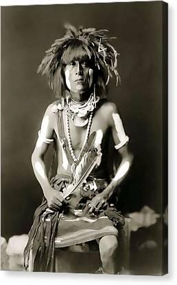 Snake Priest  - Hopi Tribe C. 1900 Canvas Print by Daniel Hagerman