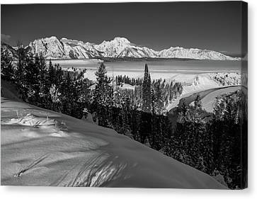 Snake River Overlook-winter Scene 79 Canvas Print