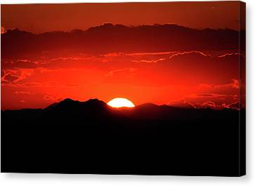 Snake River Plain Sunset Canvas Print by Greg Norrell