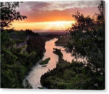 Snake River Sunset Canvas Print