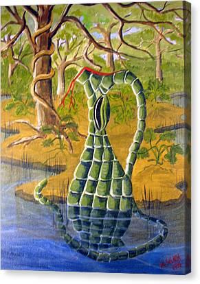 Snake Skin Pitcher Canvas Print by Myrna Salaun