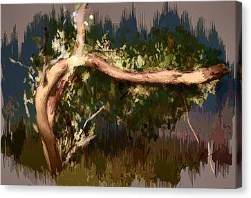 Canvas Print featuring the digital art Snake Tree by Dale Stillman