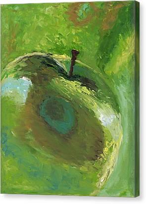 Snazzy Apple Canvas Print by Davis Elliott