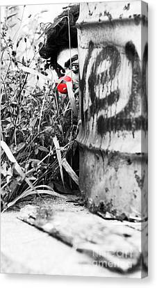 Observer Canvas Print - Sneaky The Clown by Jorgo Photography - Wall Art Gallery