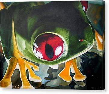 Canvas Print - Sneek Peek by Jon Ferrentino