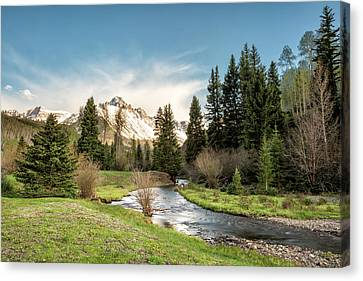 Sneffels And Spring Stream Canvas Print