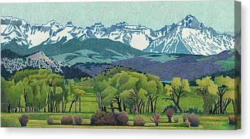 Sneffels Range Spring Canvas Print