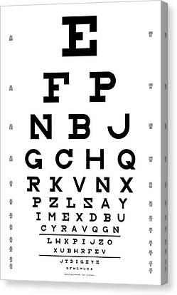 Snellen Chart - Full Alphabet Canvas Print by Martin Krzywinski