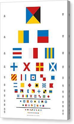 Snellen Chart - Nautical Flags Canvas Print by Martin Krzywinski