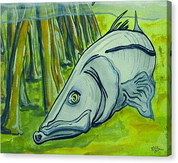 Snook Fish Canvas Print by W Gilroy