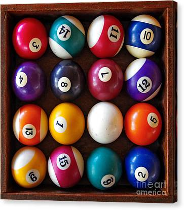 Snooker Balls Canvas Print by Carlos Caetano