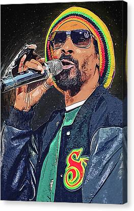 Lil Wayne Art Canvas Print - Snoop Dogg by Semih Yurdabak