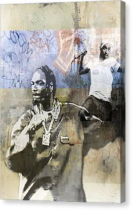 Snoop Graffitti  60 Canvas Print by Jani Heinonen