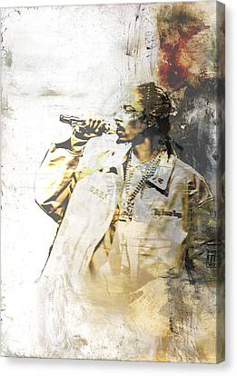 Snoop Graffitti 8 Canvas Print by Jani Heinonen