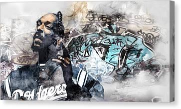 Snoopp Graffiti 8 Canvas Print by Jani Heinonen