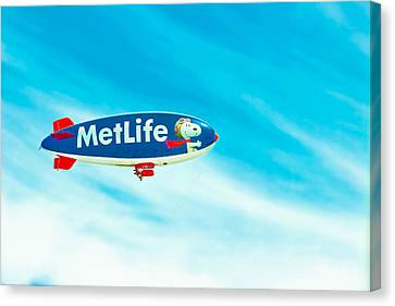 Inflatable Canvas Print - Snoopy In The Sky by Colleen Kammerer