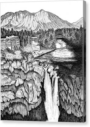 Snoqualmie Falls Canvas Print by Lawrence Tripoli