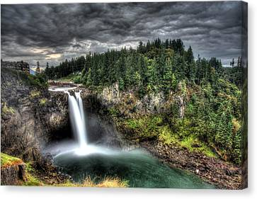 Snoqualmie Falls Storm Canvas Print by Shawn Everhart
