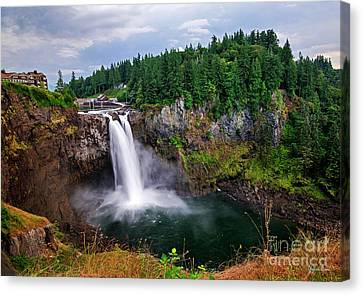 Snoqualmie Falls - Washington State Canvas Print by Yefim Bam