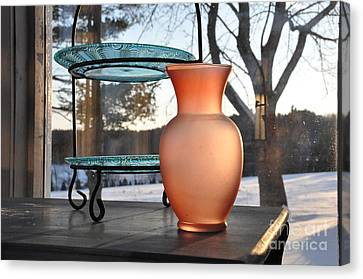 Canvas Print featuring the photograph Snow And Glass by John Black