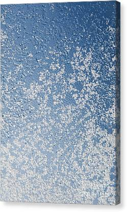 Snow And Water Condensation Abstract Canvas Print
