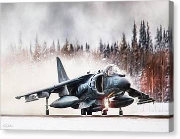 Snow Angel Harrier Canvas Print by Peter Chilelli