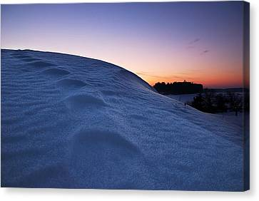 Snow Bank Canvas Print by Hannes Cmarits
