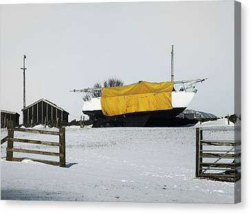 Snow Boat - Far From Water Canvas Print