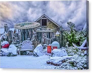 Snow Bungalow Canvas Print