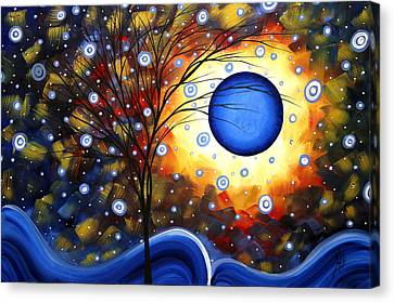 Rich Canvas Print - Snow Burst Cirlce Of Life Painting Madart by Megan Duncanson