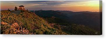 Canvas Print featuring the photograph Snow Camp Lookout by Leland D Howard