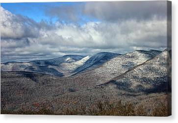 Snow-capped Catskills  Canvas Print