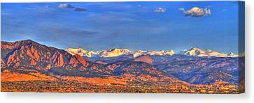 Snow-capped Panorama Of The Rockies Canvas Print