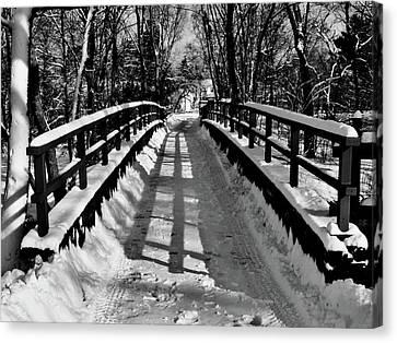 Snow Covered Bridge Canvas Print by Daniel Carvalho