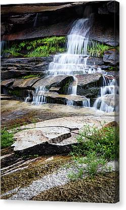 Canvas Print featuring the photograph Snow Creek Cascade by Tim Newton