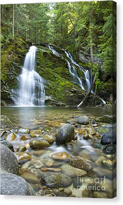 Snow Creek Falls Canvas Print by Idaho Scenic Images Linda Lantzy