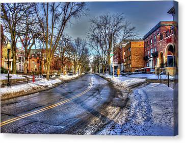 Snow Day In Madison Wisconsin Canvas Print by Yinan Chen