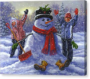 Frosty Canvas Print - Snow Day by Richard De Wolfe