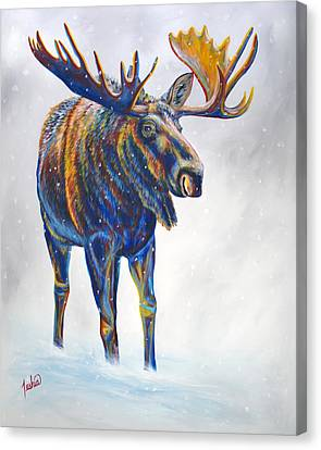 Snow Day Canvas Print by Teshia Art