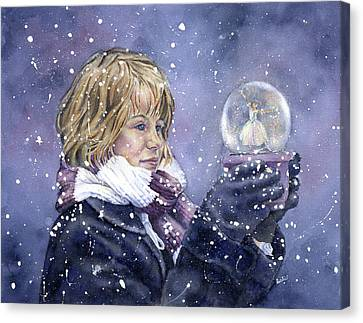 Snow Dreaming Canvas Print by Leslie Redhead