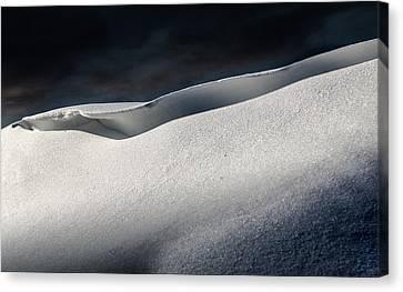 Snow Drift On The Beach Canvas Print