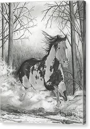 Snow Driftin' Canvas Print