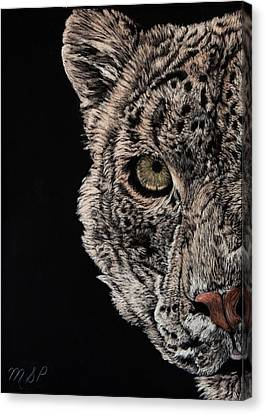 Snow Eye Canvas Print