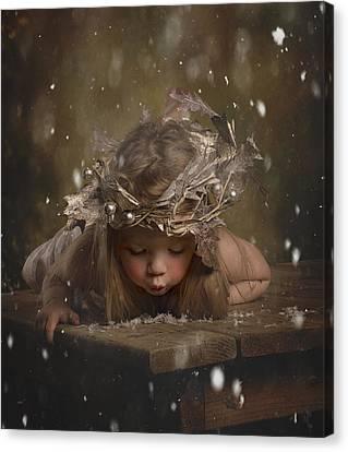 Snow Fairy 2 Canvas Print by Lori Lynn