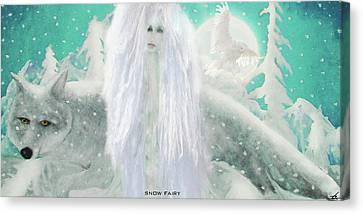 Snow Fairy Canvas Print