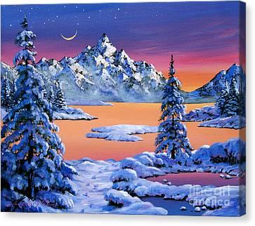 Snow Fantasy Canvas Print by David Lloyd Glover